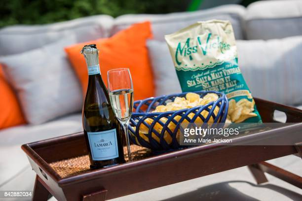 TORONTO ON August 9 2017 Lamarca Prosecco DOC Italy and Miss Vickie's Sea Salt and Malt Vinegar Potato Chips For column by Carolyn Hammond on summer...