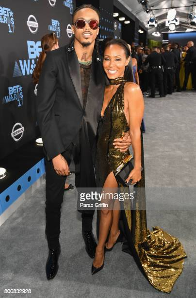 August Alsina and Jada Pinkett Smith at the 2017 BET Awards at Staples Center on June 25 2017 in Los Angeles California