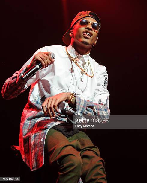August Alsina performs at American Airlines Arena on December 13 2014 in Miami Florida