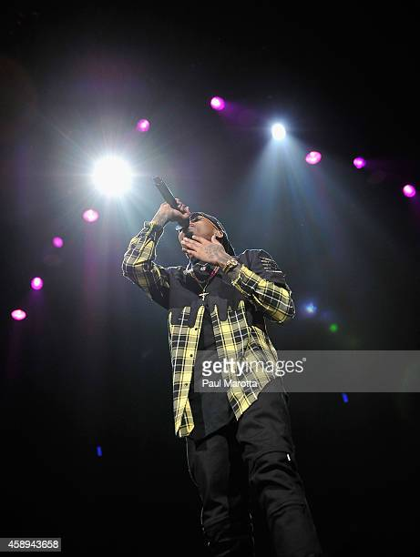 August Alsina performs at TD Garden on November 13 2014 in Boston Massachusetts