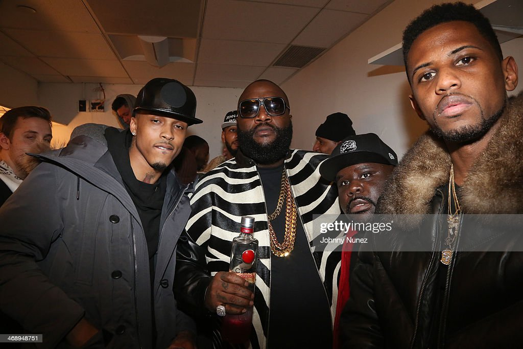 August Alsina, <a gi-track='captionPersonalityLinkClicked' href=/galleries/search?phrase=Rick+Ross+-+Rapper&family=editorial&specificpeople=11492924 ng-click='$event.stopPropagation()'>Rick Ross</a>, Shaheem Reid and <a gi-track='captionPersonalityLinkClicked' href=/galleries/search?phrase=Fabolous&family=editorial&specificpeople=215255 ng-click='$event.stopPropagation()'>Fabolous</a> attend the <a gi-track='captionPersonalityLinkClicked' href=/galleries/search?phrase=Rick+Ross+-+Rapper&family=editorial&specificpeople=11492924 ng-click='$event.stopPropagation()'>Rick Ross</a> 'Mastermind' Listening Event at New World Stages on February 11, 2014 in New York City.