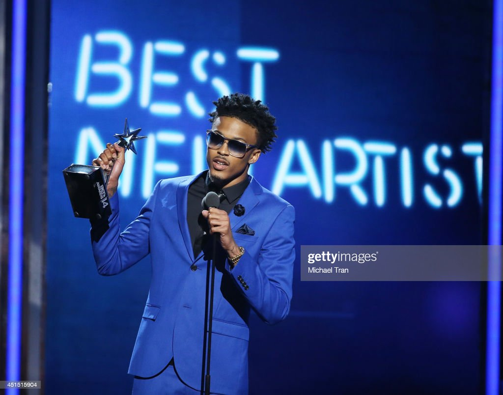 August Alsina speaks onstage during the 'BET AWARDS' 14 held at Nokia Theater L.A. LIVE on June 29, 2014 in Los Angeles, California.