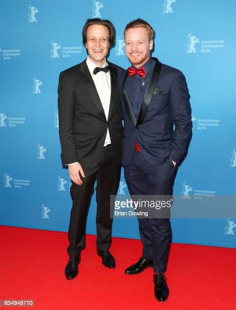 August Diehl and Stefan Konarske attend the 'The Young Karl Marx' premiere during the 67th Berlinale International Film Festival Berlin at...