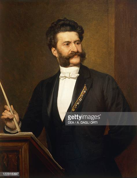 August Eisenmenger Portrait of Johann Strauss Austrian composer and conductor 1887