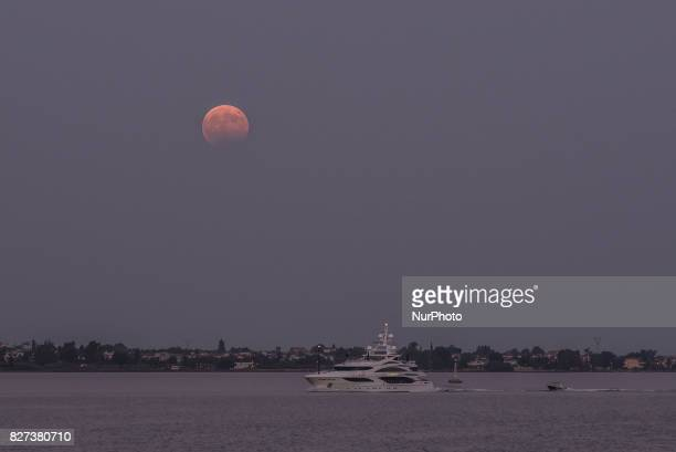 August fullmoon in Aulida at the place where according to Homer 1186 Greek ships started for war against Troy the start of the Ilias and the place...