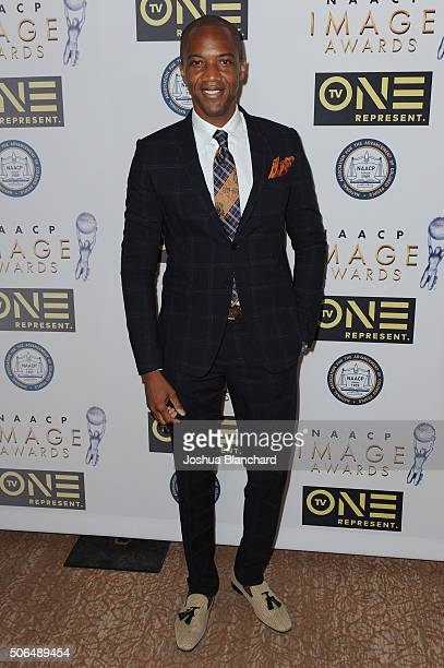 J August Richards arrives at the 47th NAACP Image Awards Nominees' Luncheon at The Beverly Hilton Hotel on January 23 2016 in Beverly Hills California