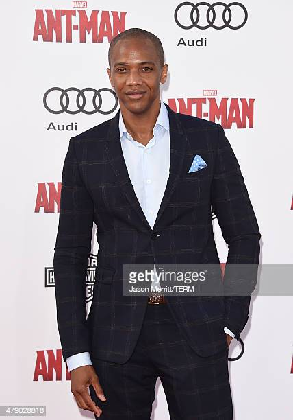 J August Richards arrives at the Los Angeles Premiere of Marvel Studios 'AntMan' at Dolby Theatre on June 29 2015 in Hollywood California
