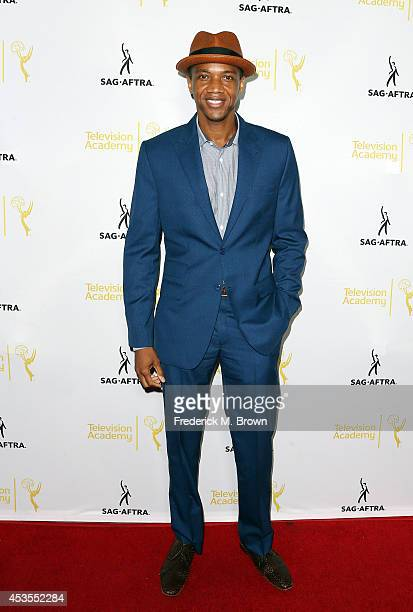 J August Richards attends the Television Academy and SAGAFTRA Presents Dynamic Diverse A 66th Emmy Awards Celebration of Diversity at the Leonard H...