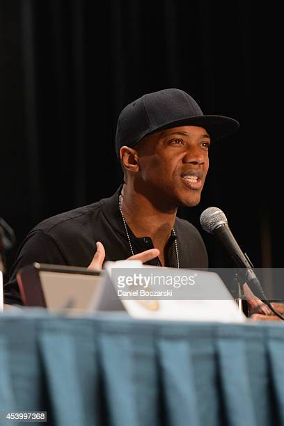 J August Richards attends Wizard World Chicago Comic Con 2014 at Donald E Stephens Convention Center on August 22 2014 in Chicago Illinois