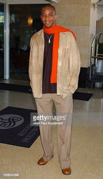 J August Richards during The WB Networks 2004 TCA Arrivals at Renaissance Hotel in Hollywood California United States