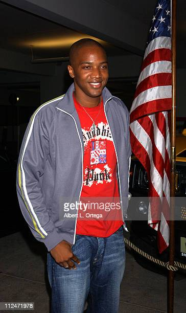 J August Richards of 'Angel' during KTLA and The WB Host Wednesday Season Premiere Party for 'Angel' and 'Smallville' at The Grove in Los Angeles...