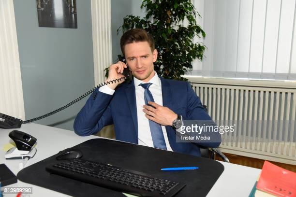 August Wittgenstein during 'Jenny Echt gerecht' RTL TV series Set Visit In Berlin on July 13 2017 in Berlin Germany
