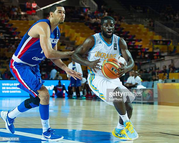 Eugene Jeter Pooh in the match of the group stage of world basketball Espana 2014 between Ukraine and the Dominican Republic played in the stadium of...