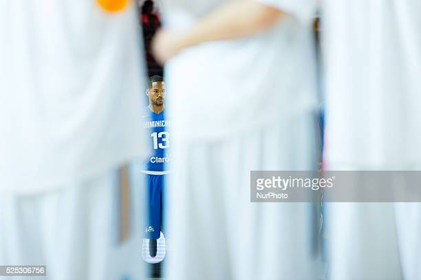 Eulis Baez Benjamin in the match of the group stage of world basketball Espana 2014 between Ukraine and the Dominican Republic played in the stadium...