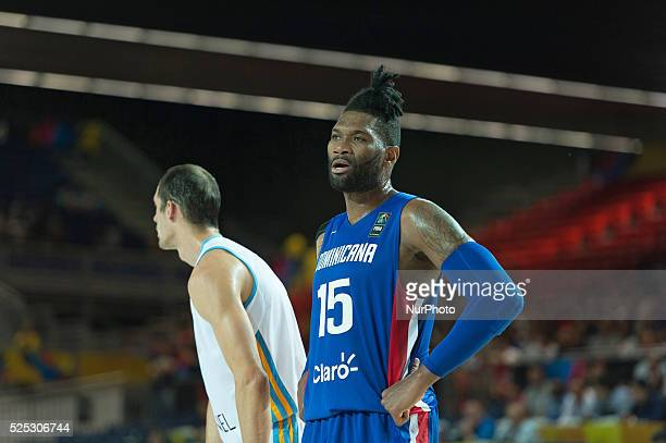 Jack Martinez in the match of the group stage of world basketball Espana 2014 between Ukraine and the Dominican Republic played in the stadium of BEC...