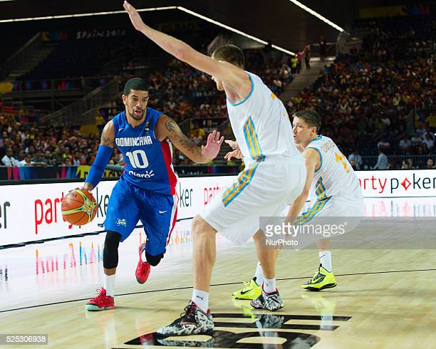 JAMES EARL FELDEINE PADILLA in the match of the group stage of world basketball Espana 2014 between Ukraine and the Dominican Republic played in the...