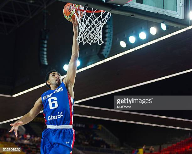 Juan Coronado in the match of the group stage of world basketball Espana 2014 between Ukraine and the Dominican Republic played in the stadium of BEC...