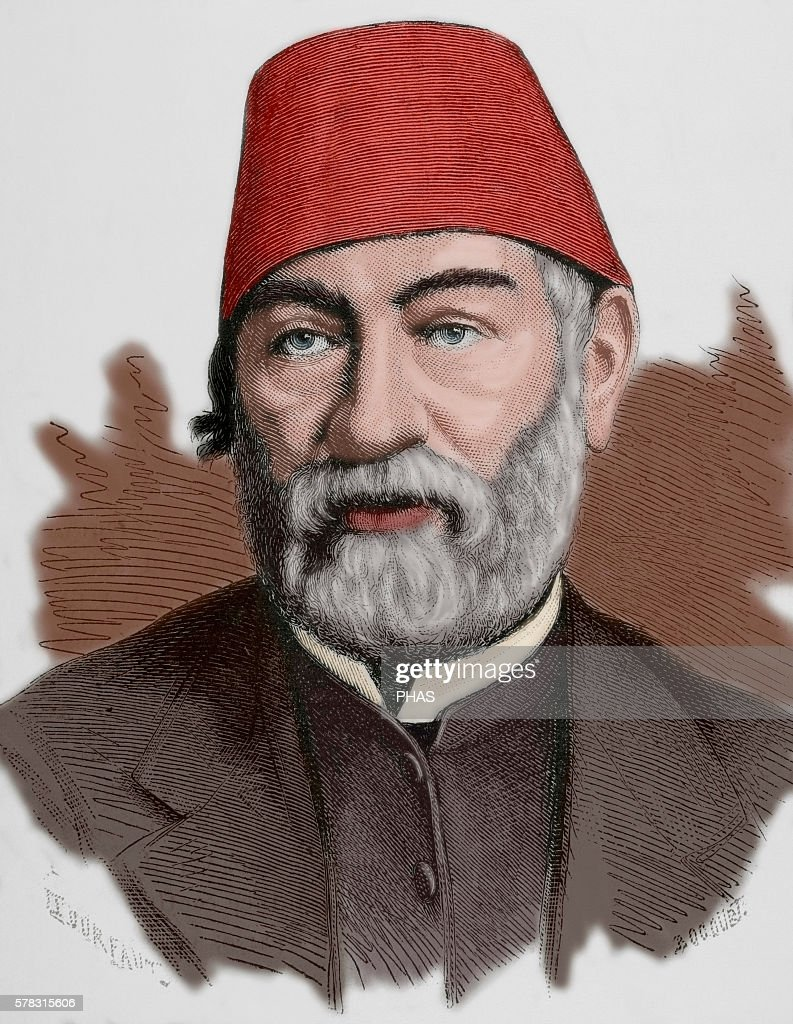Auguste Mariette French scholar archaeologist and Egyptologist Portrait Engraving Colored