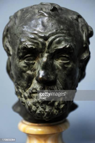 Auguste Rodin French sculptor The Man With the Broken Nose Bronze Before 186263 Ny Carlsberg Glyptotek Copenhagen Denmark