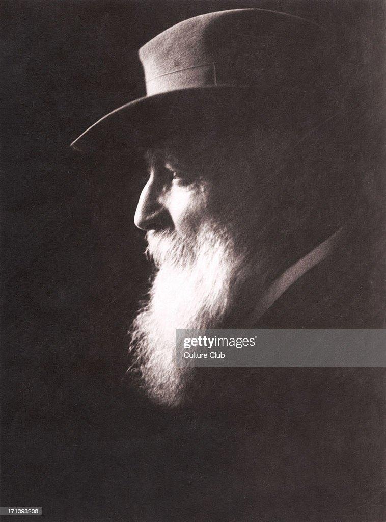 Auguste Rodin portrait with hat French sculptor 12 November 1840 17 November 1917