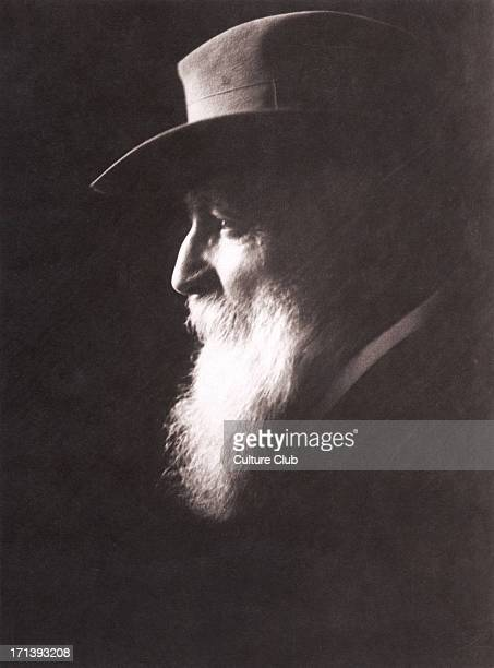 Auguste Rodin portrait with hat French sculptor 12 November 1840 17 November 1917