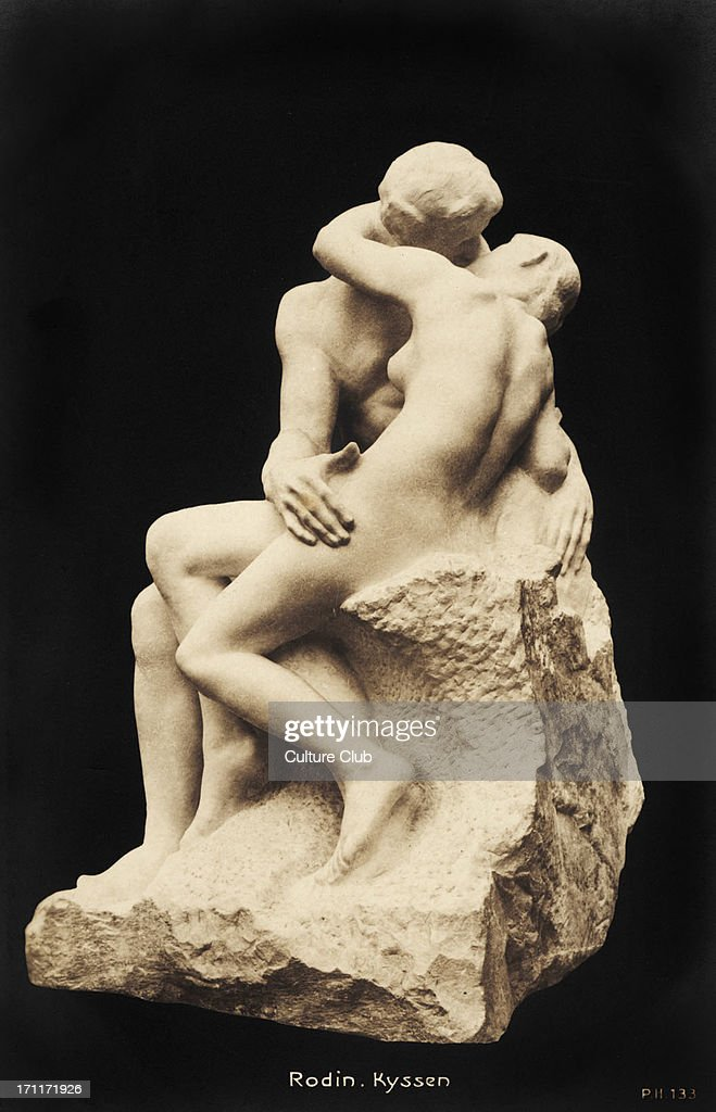 Auguste Rodin The Kiss 1886 Marble sculptureMusee Rodin Paris French sculptor 12 November 1840 17 November 1917