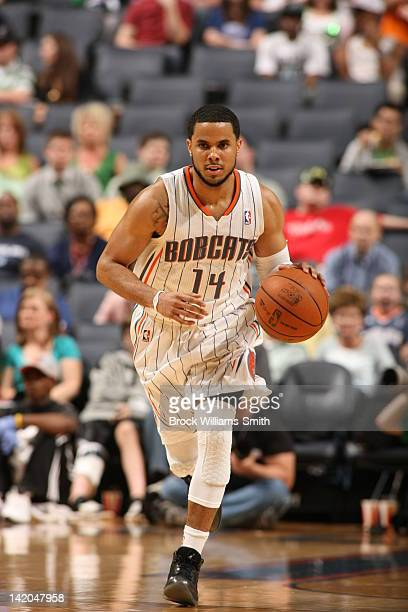 J Augustin of the Charlotte Bobcats moves the ball against the Toronto Raptors on March 17 2012 at the Time Warner Cable Arena in Charlotte North...