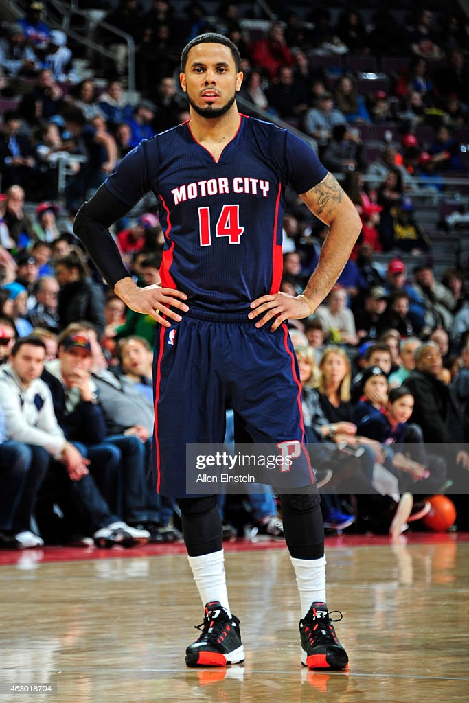 J Augustin of the Detroit Pistons during the game against the Minnesota Timberwolves on February 8 2015 at The Palace of Auburn Hills in Auburn Hills...