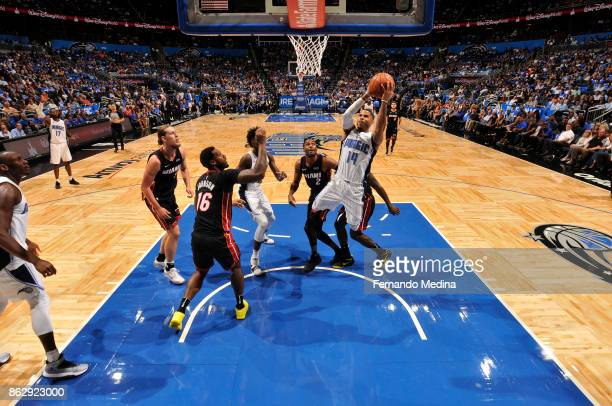 J Augustin of the Orlando Magic shoots the ball during the game against the Miami Heat on October 18 2017 at Amway Center in Orlando Florida NOTE TO...