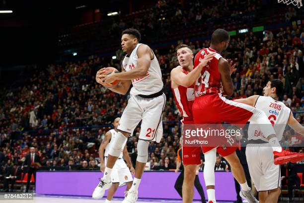 Augustine Rubit during a game of Turkish Airlines EuroLeague basketball between AX Armani Exchange Milan vs Brose Bamberg at Mediolanum Forum on...