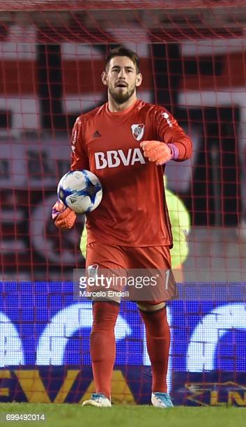 Augusto Batalla of River Plate holds the ball during a match between River Plate and Aldosivi as part of Torneo Primera Division 2016/17 at...