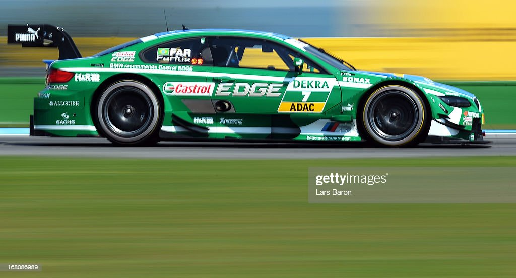 Augusto Farfus of Brazil and BMW Team RBM drives during the first round of the DTM 2013 German Touring Car Championship at Hockenheimring on May 5, 2013 in Hockenheim, Germany.