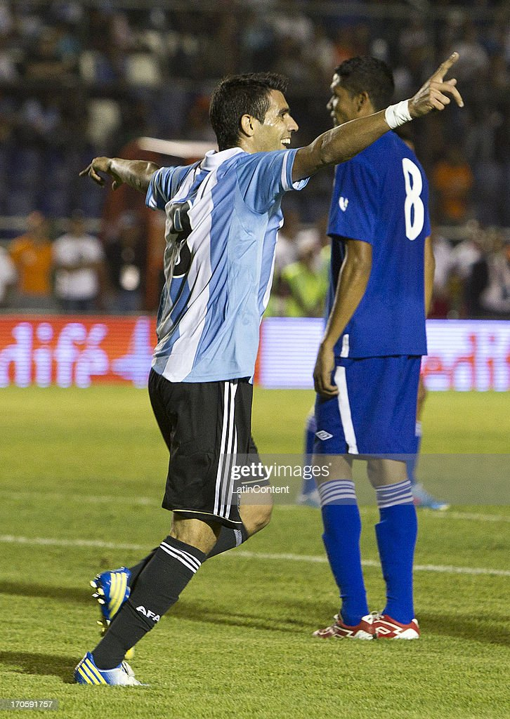<a gi-track='captionPersonalityLinkClicked' href=/galleries/search?phrase=Augusto+Fernandez&family=editorial&specificpeople=684736 ng-click='$event.stopPropagation()'>Augusto Fernandez</a> of Argentina celebrates during a friendly soccer match between Argentina and Guatemala at Mateo Flores stadium on June 14 in Guatemala City, Guatemala.