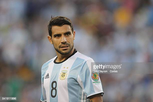 Augusto Fernandez of Argentina during the Argentina Vs Venezuela Quarterfinal match of the Copa America Centenario USA 2016 Tournament at Gillette...