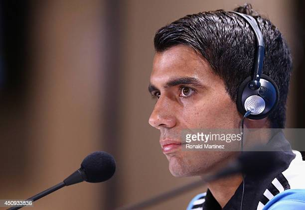 Augusto Fernandez of Argentina speaks with the media during a press conference at Cidade do Galo on June 20 2014 in Vespasiano Brazil