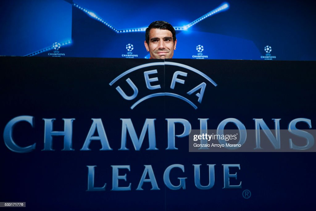 <a gi-track='captionPersonalityLinkClicked' href=/galleries/search?phrase=Augusto+Fernandez&family=editorial&specificpeople=684736 ng-click='$event.stopPropagation()'>Augusto Fernandez</a> of Atletico de Madrid attends press conference during the Club Atletico de Madrid Open Media Day ahead of the UEFA Champions League Final match against Real Madrid CF on May 21, 2016 in Majadahonda, Spain.