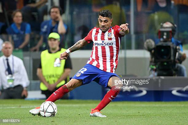 Augusto Fernandez of Atletico Madrid in action during the UEFA Champions League final between Real Madrid and Club Atletico Madrid at Stadio Giuseppe...