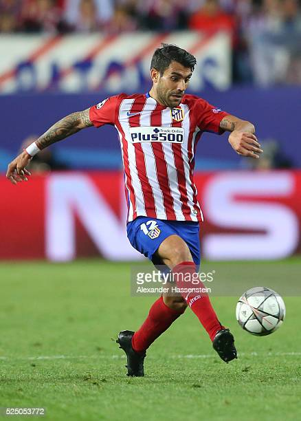 Augusto Fernandez of Atletico Madrid in action during the UEFA Champions League semi final first leg match between Club Atletico de Madrid and FC...