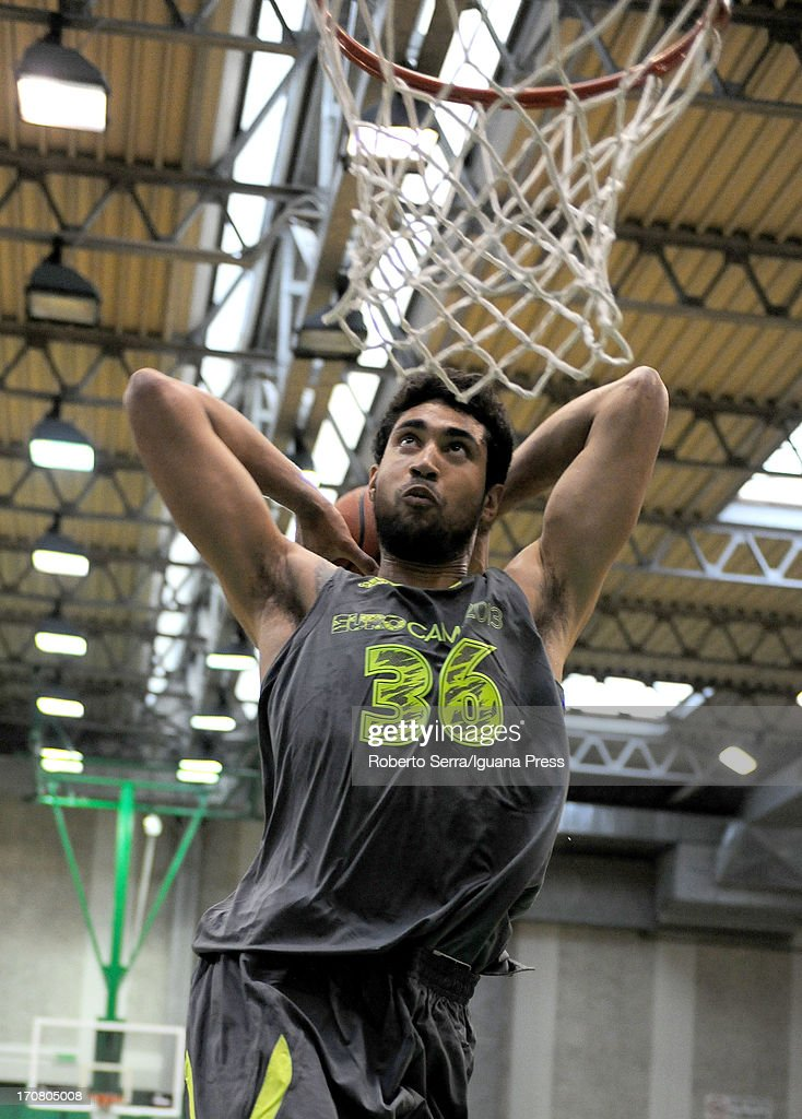 Augusto Lima dunks during adidas Eurocamp day two at La Ghirada sports center on June 9, 2013 in Treviso, Italy.