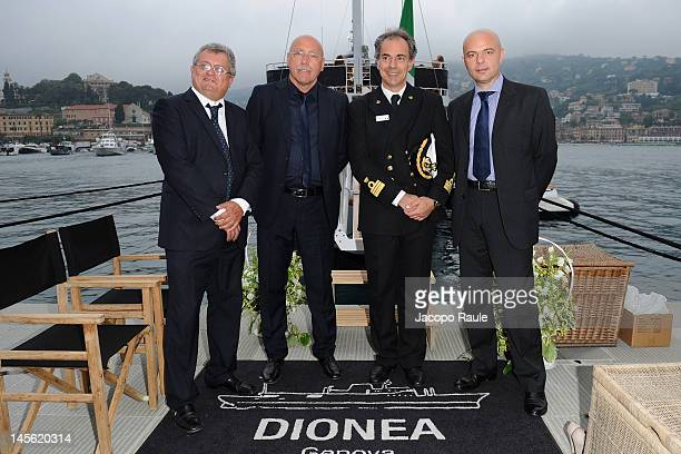 Augusto Sartori Claudio Galante and Giovanni Schiaffino attend the Dionea 50th Anniversary Party on June 2 2012 in Santa Margherita Ligure Italy