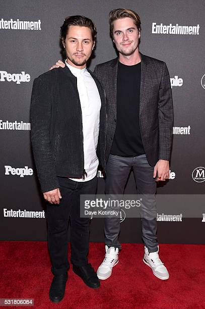 Augustus Prew and Jeffery Self attend the Entertainment Weekly People Upfronts party 2016 at Cedar Lake on May 16 2016 in New York City