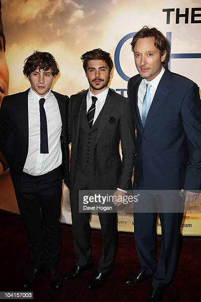 Augustus Prew Zac Efron and Burr Steers attend the UK premiere of The The Death And Life Of Charlie St Cloud held at The Empire Leicester Square on...