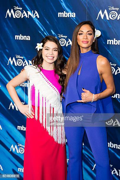 Auli'i Cravalho and Nicole Sherzinger attend the UK Gala screening of 'MOANA' at BAFTA on November 20 2016 in London England