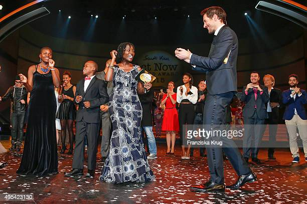 Auma Obama and Alexander Mazza attend the 1st Act Now Jugend Award on November 02 2015 in Berlin Germany
