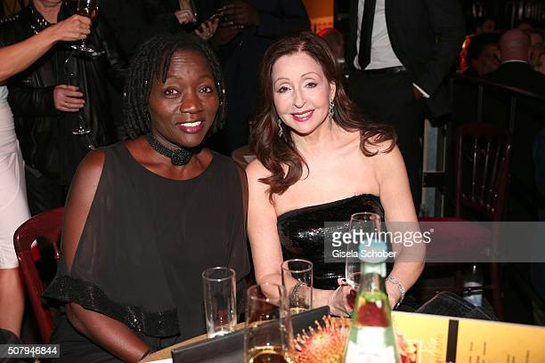 Auma Obama and Vicky Leandros during the Lambertz Monday Night 2016 at Alter Wartesaal on February 1 2016 in Cologne Germany