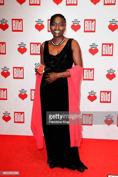 Auma Obama attends the Ein Herz Fuer Kinder Gala 2014 Red Carpet Arrivals on December 6 2014 in Berlin Germany
