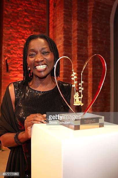 Auma Obama founder 'Sauti Kuu' attends the Prix Courage Award 2014 on October 15 2014 at AllerheiligenHofkirche in Munich Germany