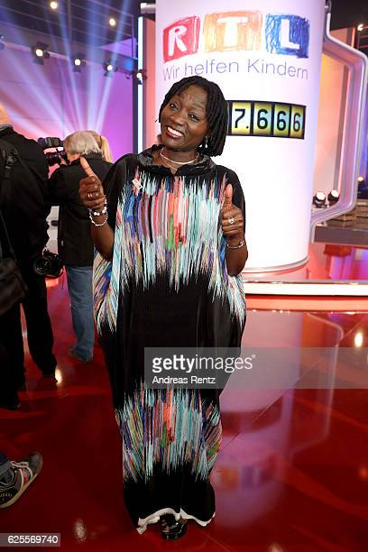 Auma Obama is seen in the studio of the RTL Telethon TV show on November 24 2016 in Cologne Germany The telethon is held every year and is on air for...