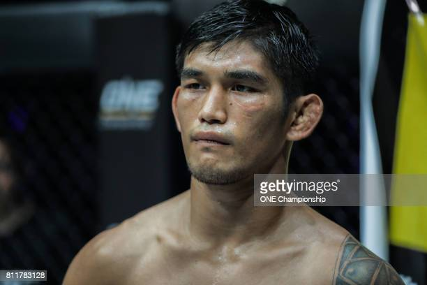 Aung La N Sang prepares to face Vitaly Bigdash at ONE Championship Light Of A Nation at the Thuwunna Indoor Stadium on June 30 2017 in Yangon Myanmar