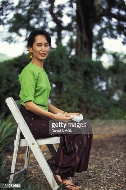 Aung San Suu Kyi in Myanmar in Septamber 1995